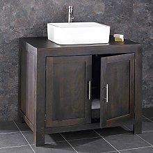 clickbasin Bathroom Vanity Unit Solid Wenge Oak