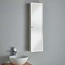 Clickbasin Narrow and Tall Bathroom Mirror Cabinet