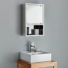 Clickbasin Narrow Wall Mounted Mirror Bathroom