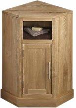 clickbasin Solid Oak 570mm Corner Cabinet Bathroom