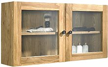 clickbasin Solid Oak 750mm by 380mm Wall Mounted