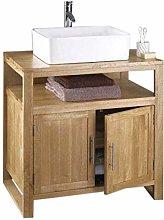 clickbasin Solid Oak Bathroom Vanity Cabinet with