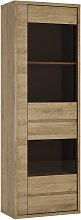 Clifford 1 Door 1 Drawer Display Cabinet - Oak