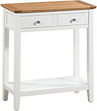 Clifton Oak Large Off White Painted Console Table