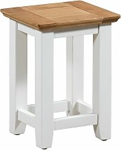 Clifton Small Oak Top and Off White Painted Wooden