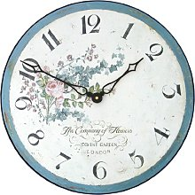 Climbing Rose Wall Clock - 36cm