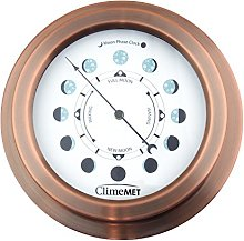 ClimeMET CM4306 Moon Phase Clock (Rose Copper)