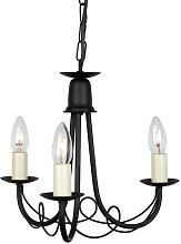 Cline Minster 3-Light Candle-Style Chandelier Red