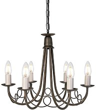 Cline Minster 6-Light Candle-Style Chandelier Red