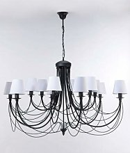 Cliney 12-Light Shaded Chandelier BelleFierté