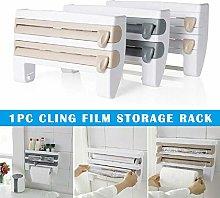Cling Film Rack, Kitchen Plastic Film Sauce Bottle