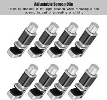 Clip Fastener, Adjustable Screen Fixing Clamp, for