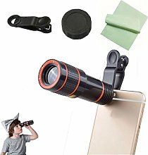 Clip-on 12x Zoom Mobile Phone Telescope Lens HD