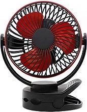 Clip on Fan Mini Desk Fan 3600mAh Battery USB