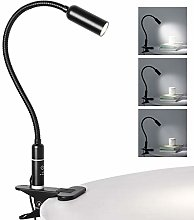Clip on Lamp Reading Light, Eye-Care Dimmable Desk