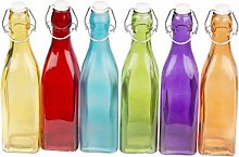 Clip Top Bottles Coloured Oil Vinegar Bottles With