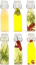 Clip Top Preserve Bottles - Set of 6 | Airtight