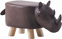 CLIPOP Animal Footstool Rhinoceros Upholstered