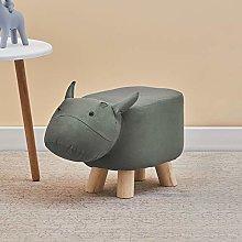 CLIPOP Animal Footstool Upholstered Ottoman