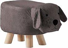 CLIPOP Animal Shaped Footstool Dog Upholstered