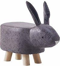 CLIPOP Animal Shaped Footstool Rabbit Upholstered