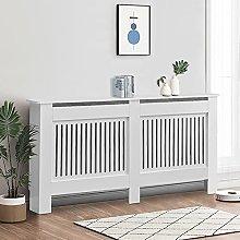 CLIPOP White Radiator Cover Modern Painted
