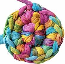 Clisil Colorful DIY T-Shirt Yarn Bulky Fabric Yarn