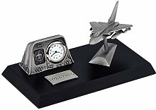 Clivedon Pewter Desk Clock - Tornado