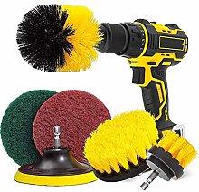 CLJ-LJ Drill Brush & Scrub Pads, Power Drill Scrub
