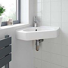 Cloakroom Bathroom Corner Wall Hung Basin Sink