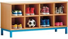 Cloakroom Bench With 8 Open Compartments  ,