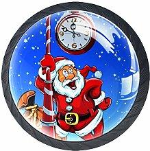 Clock Christmas Cabinet Hardware Round Knob