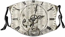 Clock Face With Gems Gears Cogs Reusable Washable