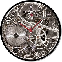 Clock FRAMED GEARS GTO6592 PINTDECOR