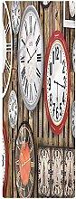 Clock Indoor/Outdoor Runner Rug, 2'x4',