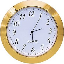 Clock Insert 55mm Gold Bezel fits 50mm Hole,