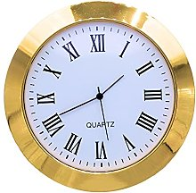 Clock Insert 55mm Gold Bezel fits 50mm Hole, Roman