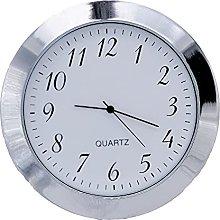 Clock Insert 55mm Silver Bezel fits 50mm Hole,