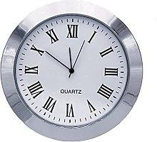 Clock Insert 60mm Silver Bezel fits 55mm Hole,