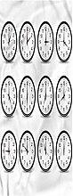 Clock Kitchen Mat, 2'x3', Clocks and Black