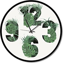 Clock NUMBER OF LEAVES GTO6584 PINTDECOR