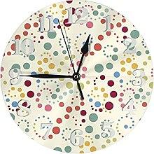 Clock Pink Seamless with Color Dot Battery