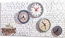 Clock TIMES FROM WORLD G3580 PINTDECOR