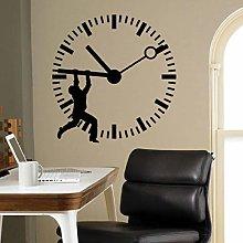 Clock Wall Decal Stop The Time Door Window Vinyl