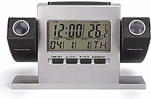 Clock with Date Snooze Function Thermometer