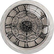 Clock with Roman Numbers Wall, Modern Minimalist