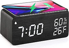 Clock With Wireless Charging Function, 3 Led Alarm