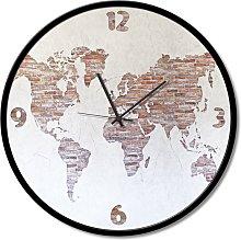 Clock WORLD ON THE WALL GTO6602 PINTDECOR