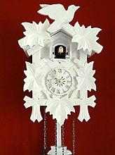 Clockvilla Hettich-Uhren White Carved Black Forest