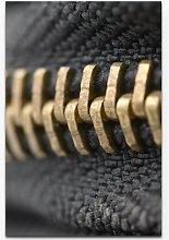 Close-Up Zip Fastener Print on Canvas East Urban